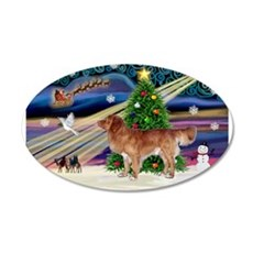 XmasMagic/Nova Scotia dog 22x14 Oval Wall Peel