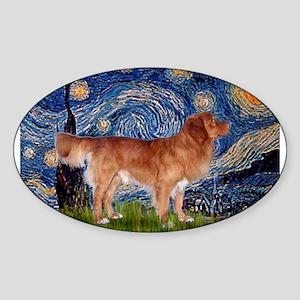 Starry Night Nova Scotia..... Sticker (Oval)