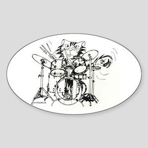 WILDCAT DRUMMER™ Sticker (Oval)