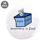 "Occupy Wall Street Democracy 3.5"" Button (10"