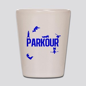 Parkour Crew (Blue) Shot Glass