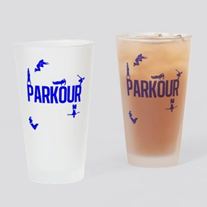 Parkour Crew (Blue) Drinking Glass