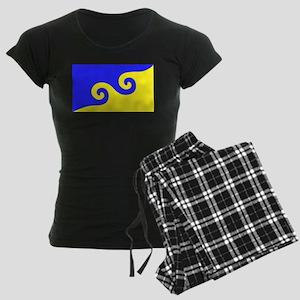 Karmapa's Dharma Flag Women's Dark Pajamas