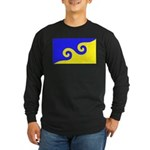 Karmapa's Dharma Flag Long Sleeve Dark T-Shirt