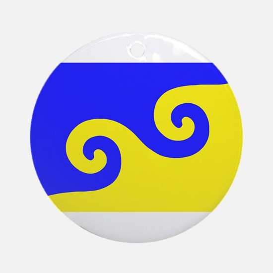 Karmapa's Dharma Flag Ornament (Round)