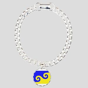 Karmapa's Dharma Flag Charm Bracelet, One Charm