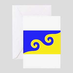Karmapa's Dharma Flag Greeting Card