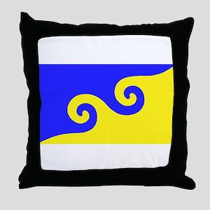 Karmapa's Dharma Flag Throw Pillow