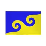 Karmapa's Dharma Flag Rectangle Magnet (100 pack)