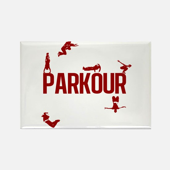 Parkour Crew (Red) Rectangle Magnet