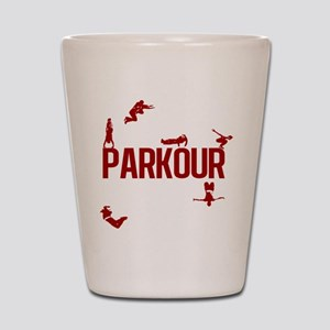 Parkour Crew (Red) Shot Glass