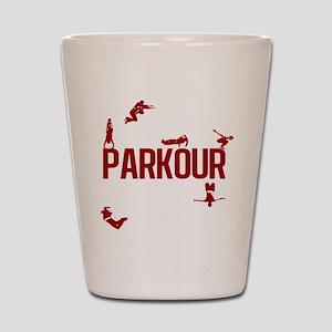 Parkour Crew (Red) Shot Glass