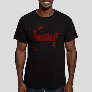 Parkour Crew (Red) Men's Fitted T-Shirt (dark)
