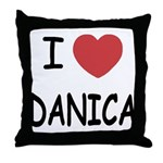 I heart Danica Throw Pillow