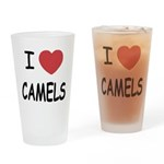 I heart camels Drinking Glass