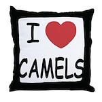 I heart camels Throw Pillow
