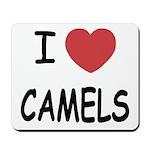 I heart camels Mousepad