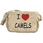 I heart camels Messenger Bag