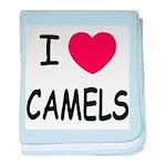 I heart camels baby blanket
