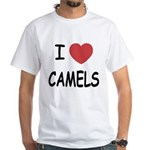 I heart camels White T-Shirt