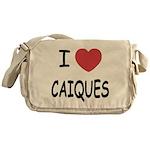 I heart caiques Messenger Bag