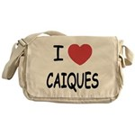 I heart caiques Messenger Bag