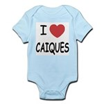 I heart caiques Infant Bodysuit