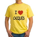 I heart caiques Yellow T-Shirt