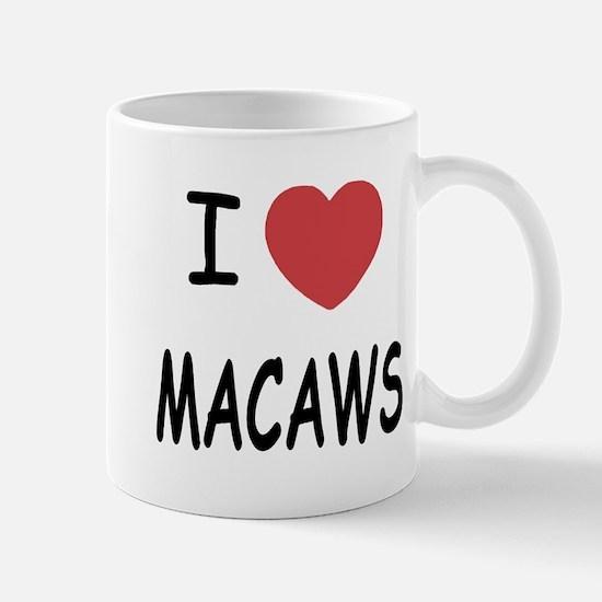 I heart macaws Mug