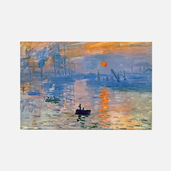 Monet - Sunrise Rectangle Magnet