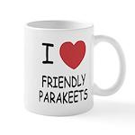 I heart friendly parakeets Mug