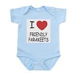 I heart friendly parakeets Infant Bodysuit