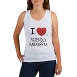 I heart friendly parakeets Women's Tank Top