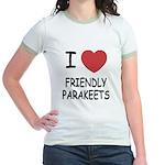 I heart friendly parakeets Jr. Ringer T-Shirt