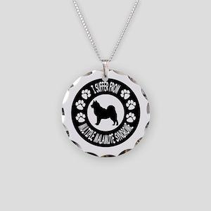 Alaskan Malamute Necklace Circle Charm