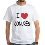 I heart conures White T-Shirt