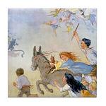 Chasing Fairies Tile Coaster