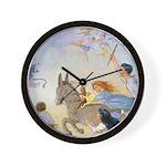 Chasing Fairies Wall Clock