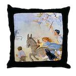 Chasing Fairies Throw Pillow