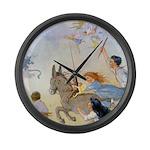 Chasing Fairies Large Wall Clock