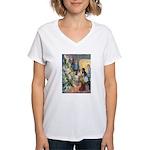 Christmas Tree Fairies Women's V-Neck T-Shirt
