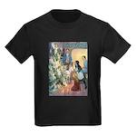 Christmas Tree Fairies Kids Dark T-Shirt