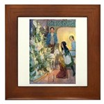 Christmas Tree Fairies Framed Tile