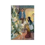 Christmas Tree Fairies Rectangle Magnet (100 pack)