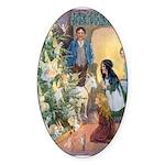 Christmas Tree Fairies Sticker (Oval 50 pk)