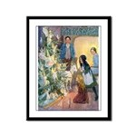 Christmas Tree Fairies Framed Panel Print