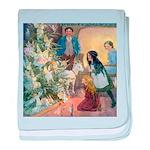 Christmas Tree Fairies baby blanket