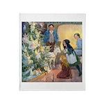 Christmas Tree Fairies Throw Blanket