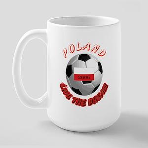 Poland world cup Large Mug