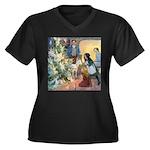 Christmas Tree Fairies Women's Plus Size V-Neck Da